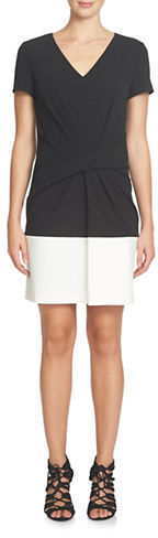 Cynthia Steffe Cynthia Steffe Short-Sleeve Colorblocked Sheath Dress