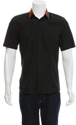 Givenchy Short Sleeve Button-Up Shirt