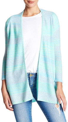 Kinross Cashmere Striped Marled Knit Cardigan $139.97 thestylecure.com