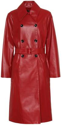 Joseph Romney leather trench coat