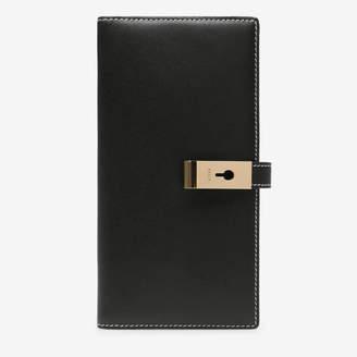 Bally Amy Black, Women's plain calf leather slim wallet in black