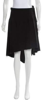 aganovich Linen & Wool Blend A-Line Skirt Black Linen & Wool Blend A-Line Skirt