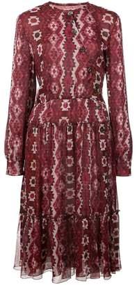 Altuzarra geometric print midi dress