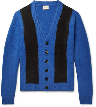 Simon Miller Striped Cashmere Cardigan - Blue
