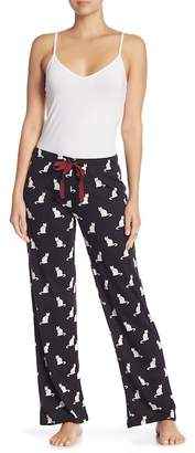 PJ Salvage Cat Print Drawstring Pants