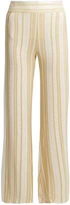 ZEUS + DIONE Alcyone striped silk-blend trousers