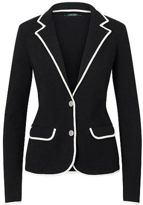 Ralph Lauren Stretch Cotton Sweater Blazer $165 thestylecure.com