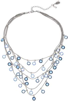 Vera Wang Simply Vera Faceted Stone Multi Strand Necklace