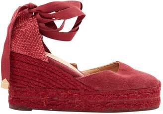 Castaner Burgundy Cloth Sandals