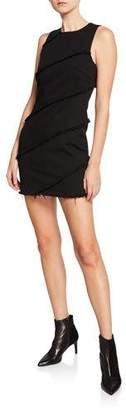 Alexander Wang Diagonal Seamed Crewneck Mini Dress