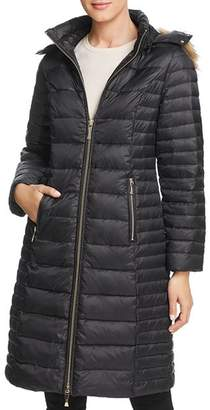 Kate Spade Faux Fur Trim Hooded Puffer Coat