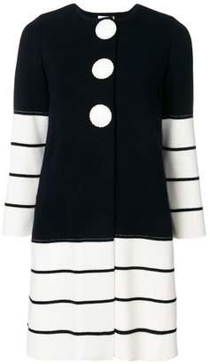 Charlott striped knit coat