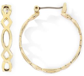 MONET JEWELRY Monet Gold-Tone Medium Woven Hoop Earrings
