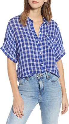 BP Plaid Dolman Sleeve Shirt