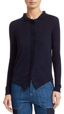 Chloé Wool High-Low Cardigan