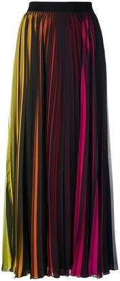 Marcelo Burlon County of Milan rainbow pleated maxi skirt
