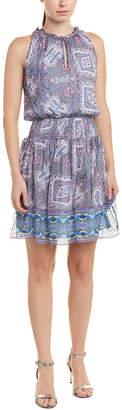 Shoshanna Silk-Blend A-Line Dress