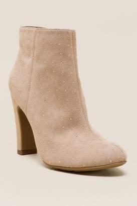 Fergalicious Parade Gold Embellished Ankle Boot - Beige