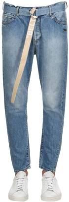"Off-White 18cm ""Belt"" Cropped Denim Jeans"