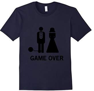 Game Over Ball and Chain - Funny Wedding T-shirt