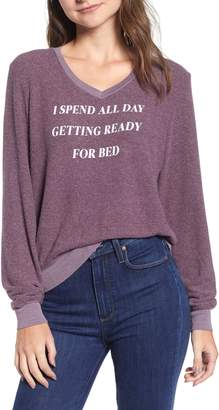 Wildfox Couture Ready For Bed Baggy Beach Jumper Sweatshirt