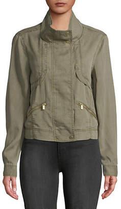 Jones New York Mockneck Full-Zip Jacket