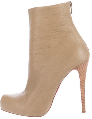 Christian Louboutin  Christian Louboutin Leather Ankle Boots