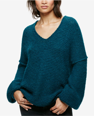 Free People All Mine V-Neck Sweater $128 thestylecure.com
