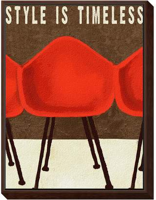 The Art Studio Style is Timeless Mid-Century Chairs by Lisa Weedn (Framed Mounted Print)