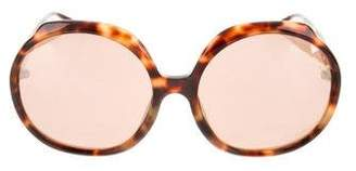 5bf47331c9 Linda Farrow Brown Women s Sunglasses - ShopStyle