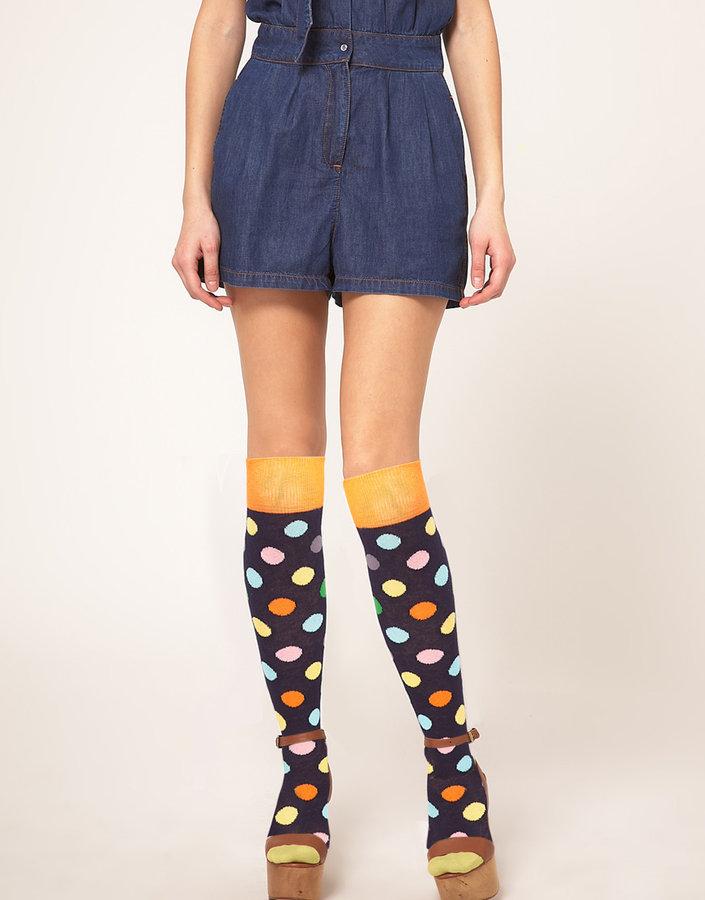 Happy Socks Over The Knee Spot Socks