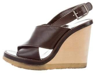 Chloé Leather Slingback Wedges
