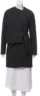 Balenciaga Long Sleeve Wool Coat
