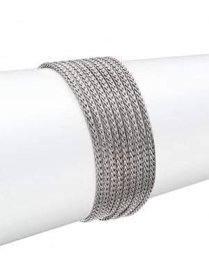 John Hardy Classic Chain Sterling Silver Multi-Row Bracelet
