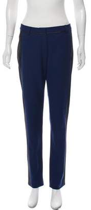 Jason Wu Leather-Trimmed Mid-Rise Pants