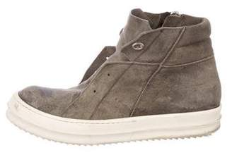 Rick Owens Island Dunk High-Top Sneakers