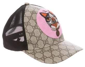 Gucci 2018 GG Supreme Bosco Baseball Hat