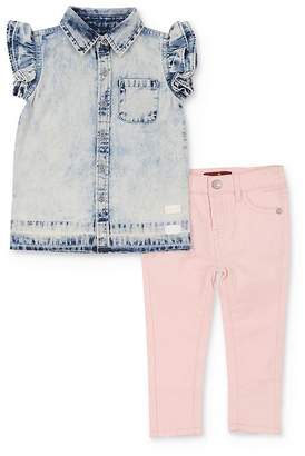 7 For All Mankind Girls' Denim Shirt & Jeans Set - Baby