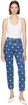 Misbhv Blue Embroidered Monogram Jeans