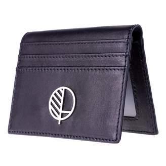 Drew Lennox - Real British Leather ID Card Holder in Verglas Black