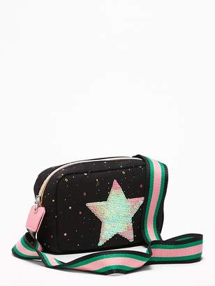 Old Navy Sequin Star-Patch Canvas Bag for Girls