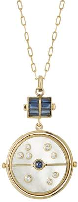 Mother of Pearl Retrouvaí Grandfather Compass Necklace