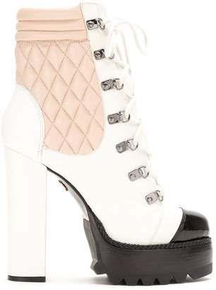 Andrea Bogosian leather platform boots