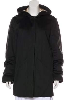 Loro Piana Hooded Cashmere Short Coat