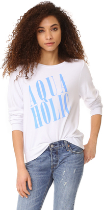 Wildfox Aquaholic Sweatshirt $98 thestylecure.com