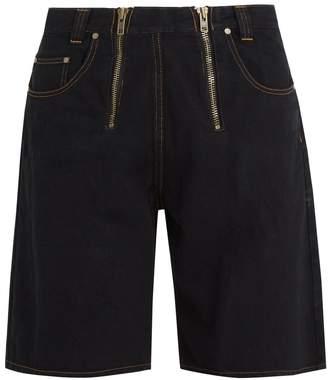 GMBH Cyrus zip-detail wide-leg denim shorts