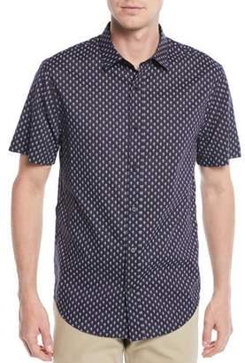 Vince Men's Vintage-Print Short-Sleeve Sport Shirt