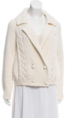 Peter Som Cashmere-Blend Cable Knit Cardigan