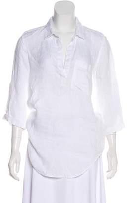 Bella Dahl Pointed Collar Long Sleeve Top