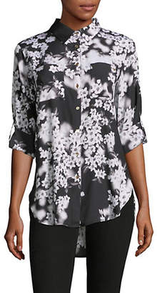 Calvin Klein Floral Button Down Shirt